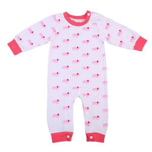 Little Pink Elephant Long Sleeve Pajamas