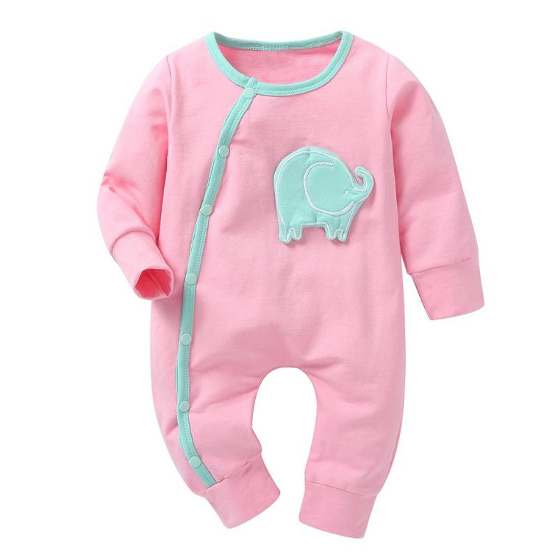Mint Baby Elephant Long Sleeve Pajamas