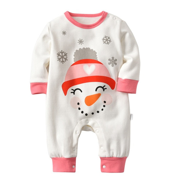 Smiling Snowmen Long Sleeve Pajamas