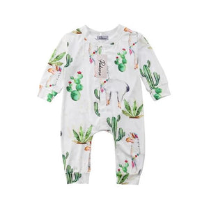 Green Cactus Soft Cotton Pajamas