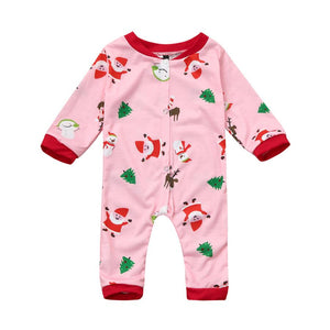 Pink Christmas Party Long Sleeve Pajamas