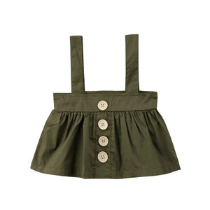 A-Line Button Up Overall Skirt