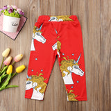 Magical Red Unicorn Leggings