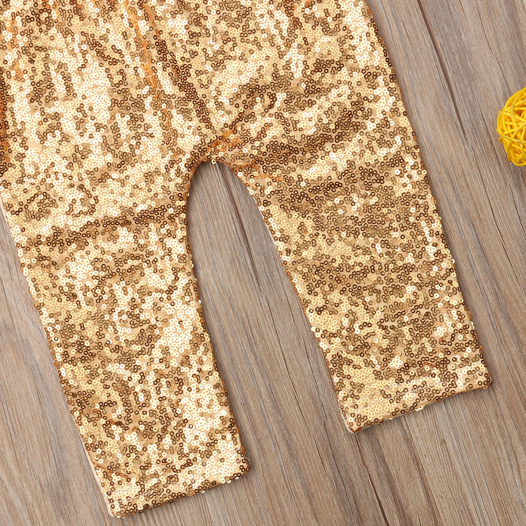 Sequin Glitter Bow Leggings