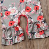 Spring Time Ruffle Bell Bottom Romper