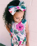 Splash Of Spring Pom Pom Romper With Matching Headband - Rompers - baby-petite