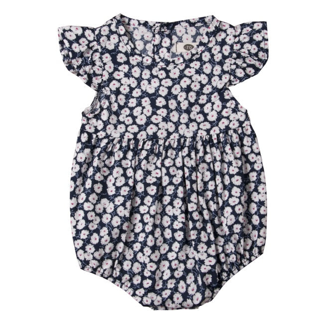 Little White Dainty Flower Romper - Rompers - baby-petite