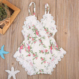 Scarlet Floral Lace Romper - Rompers - baby-petite