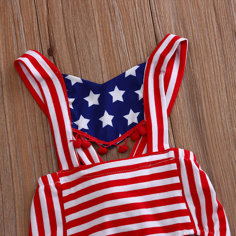 American Dreamin' & Cruisin Striped Romper - Kids Petite - Baby & Kids Clothing