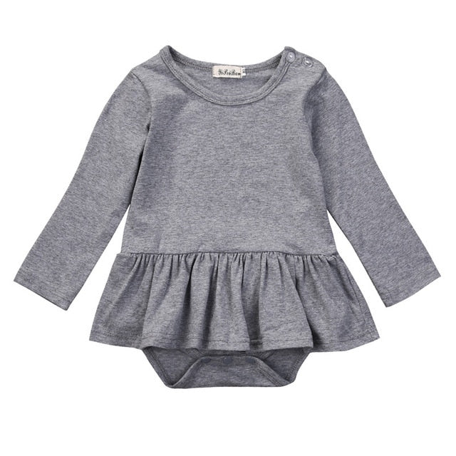 Harper Pleated Ruffle Basic Romper - Rompers - baby-petite