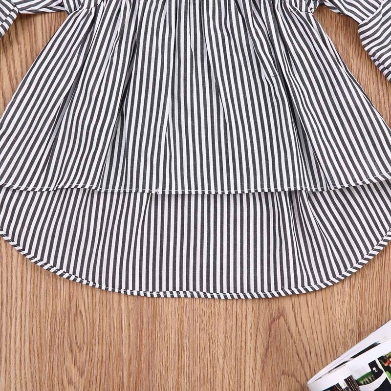 Bella Bell Sleeve Striped Dress - Dresses - baby-petite