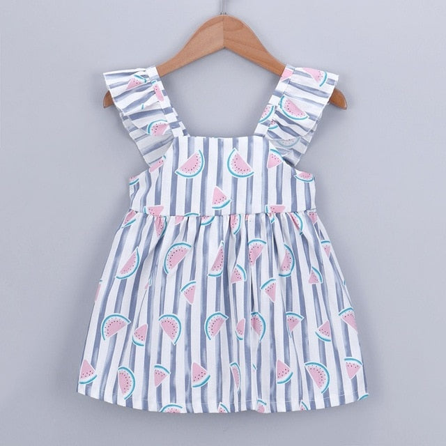 Candy Striped Watermelon Summer Dress - Dresses - baby-petite