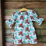 Bringing Christmas Home Blue Dress - Dresses - baby-petite