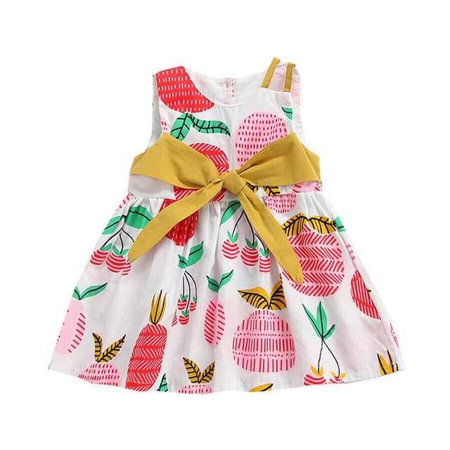 Cherry Floral Bow Knot Summer Dress - Kids Petite - Baby & Kids Clothing