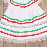 Candy Cane White Ruffle Dress - Kids Petite - Baby & Kids Clothing