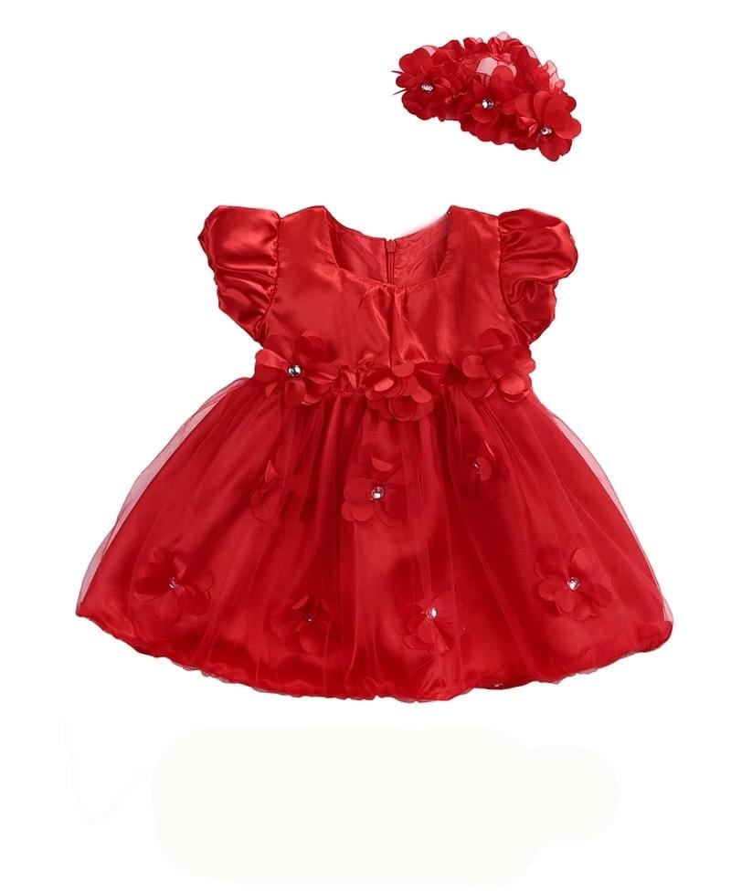 Red Fury Sparkle Princess Dress With Matching Headband - Dresses - baby-petite