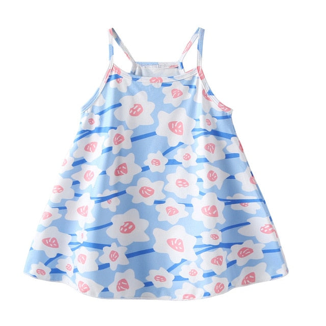 Blue Cherry Blossom Swing Dress - Dresses - baby-petite