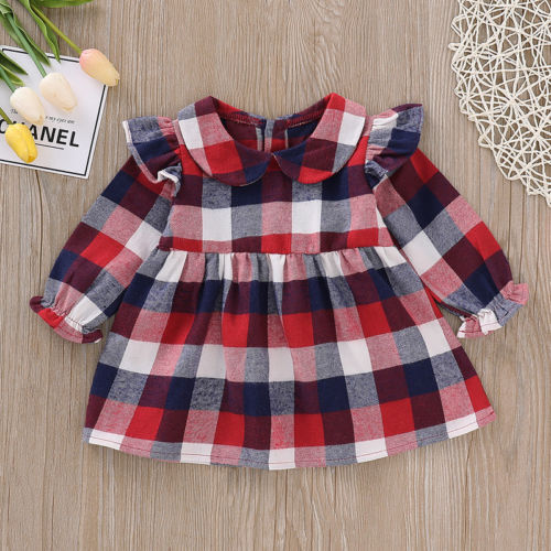 Cali Plaid Peter Pan Dress - Dresses - baby-petite