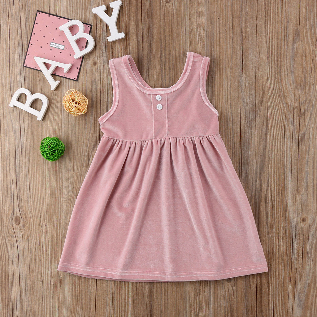 Mabel Velvet Button Summer Dress