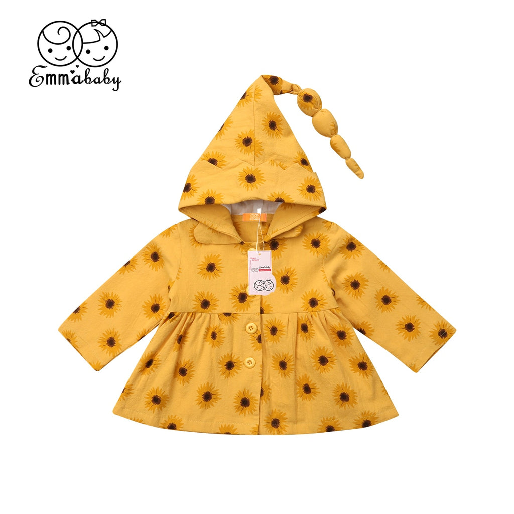 Bright Sunflower Hooded Jacket - Jackets & Outerwear - baby-petite