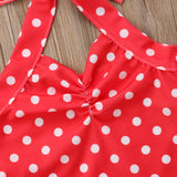 Retro Pin Up Halter Neck Polka Dot Swimsuit - Swimsuits - baby-petite
