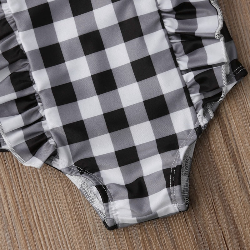 Laney Ruffle Plaid Swimsuit - Swimsuits - baby-petite
