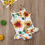 Alya Sunflower Ruffle Swimsuit - Swimsuits - baby-petite