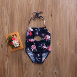 Black Forest Floral Cutout Swimsuit - Swimsuits - baby-petite