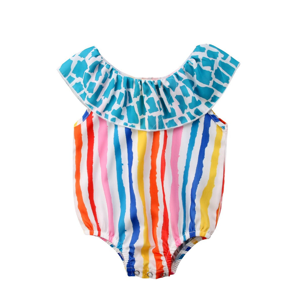 Rainbow Parade Striped Swimsuit - Swimsuits - baby-petite