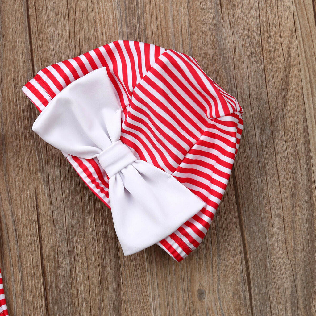 Retro Red Striped Sailor Swimsuit With Matching Cap - Swimsuits - baby-petite