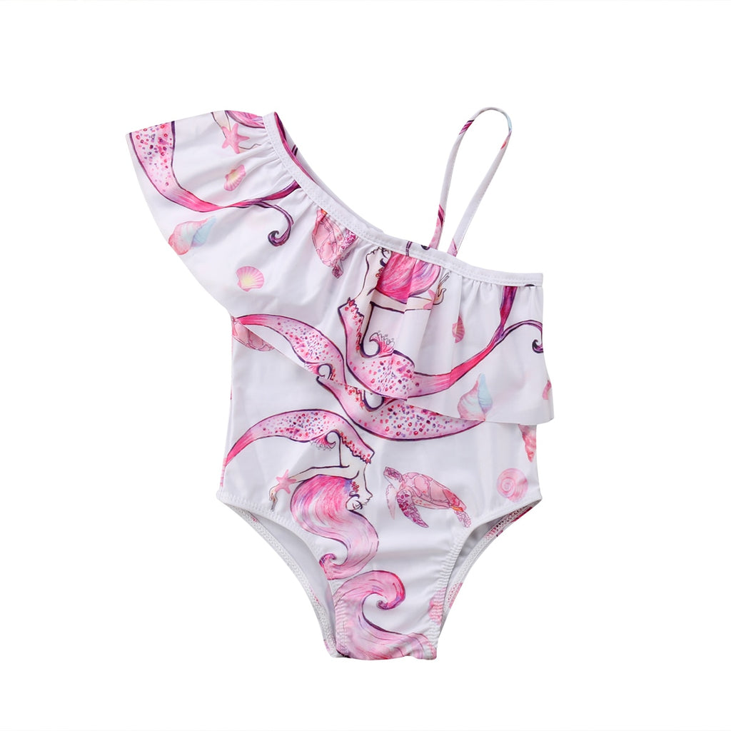 Dancing Mermaid Pink Toga Swimsuit - Swimsuits - baby-petite