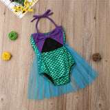 Mermaid Princess Tulle Swimsuit - Swimsuits - baby-petite