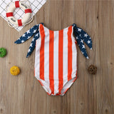 Erica America Striped Swimsuit - Swimsuits - baby-petite