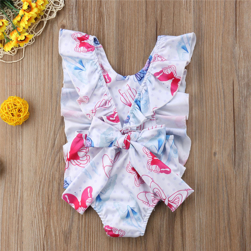 Layla Butterfly Ruffle Bow Swimsuit - Swimsuits - baby-petite