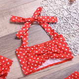 The 80's Girl Polka Dot Swimsuit With Matching Headband - Swimsuits - baby-petite