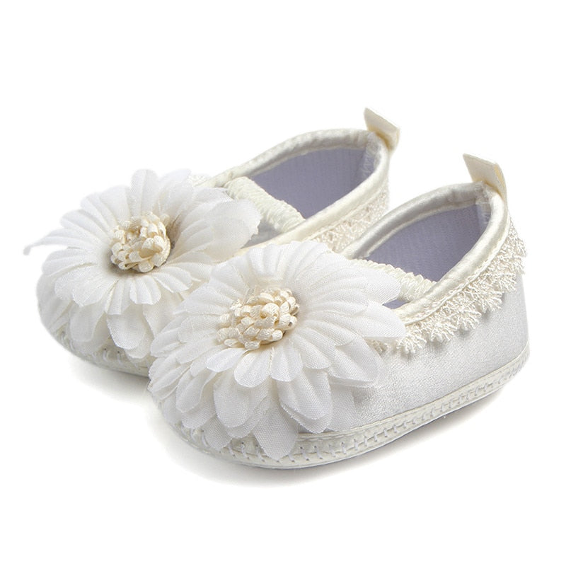 Ivory Daisy Slip On Shoes