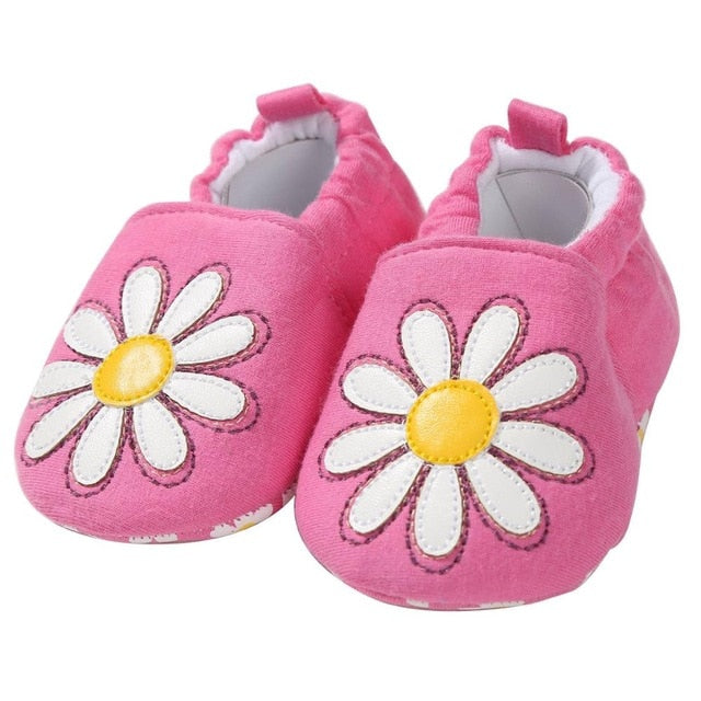 White Pink Daisies Soft Sole Shoes - Shoes - baby-petite