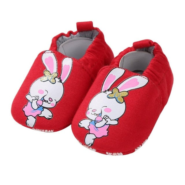 Red Dancing Bunny Soft Sole Shoes - Shoes - baby-petite