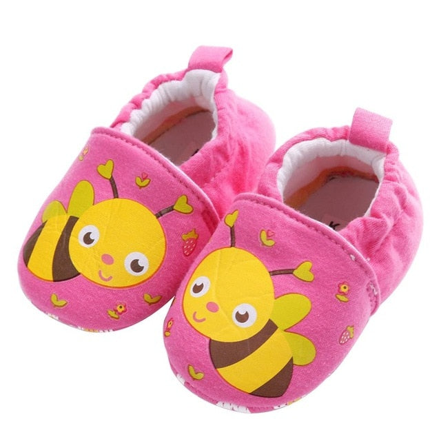 Pink Bumble Bee Soft Sole Shoes - Shoes - baby-petite
