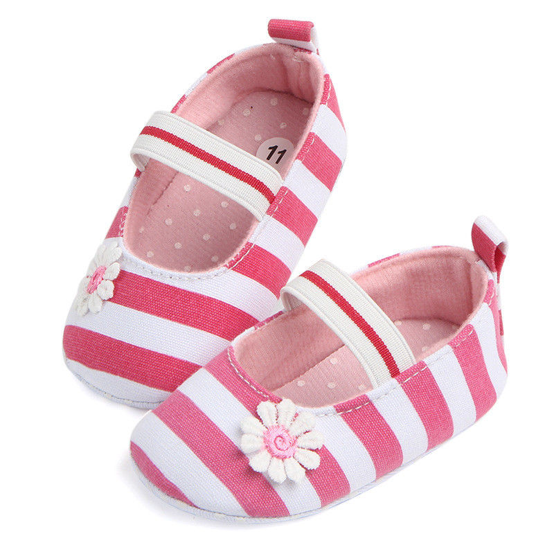 Flower Power Striped Slip On Shoes