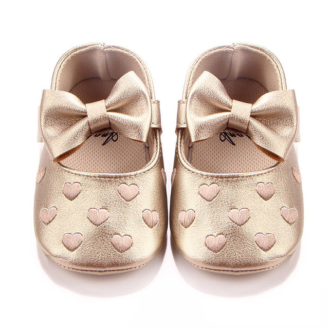 Sweetheart Bow Strap On Shoes
