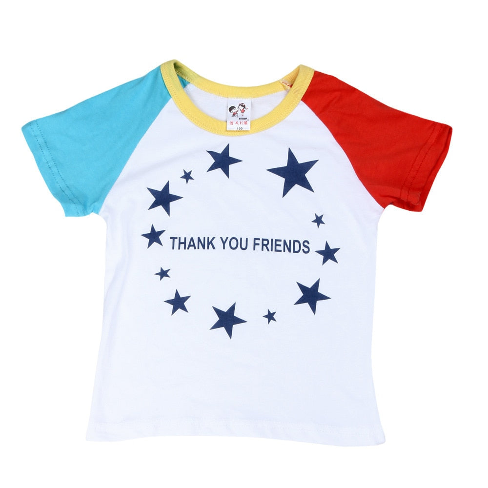 Thank You Friends Starry Casual Cotton T-Shirt