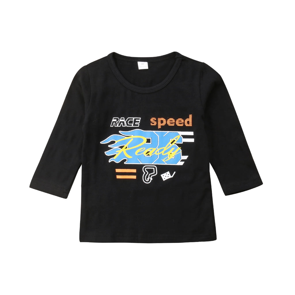 Race Speed Long Sleeve Casual Cotton T-Shirt