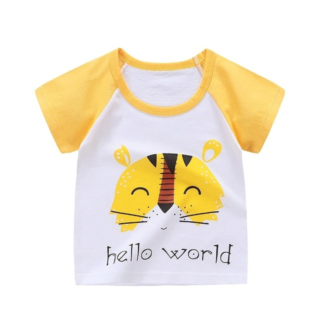 Hello World Casual Cotton T-Shirt