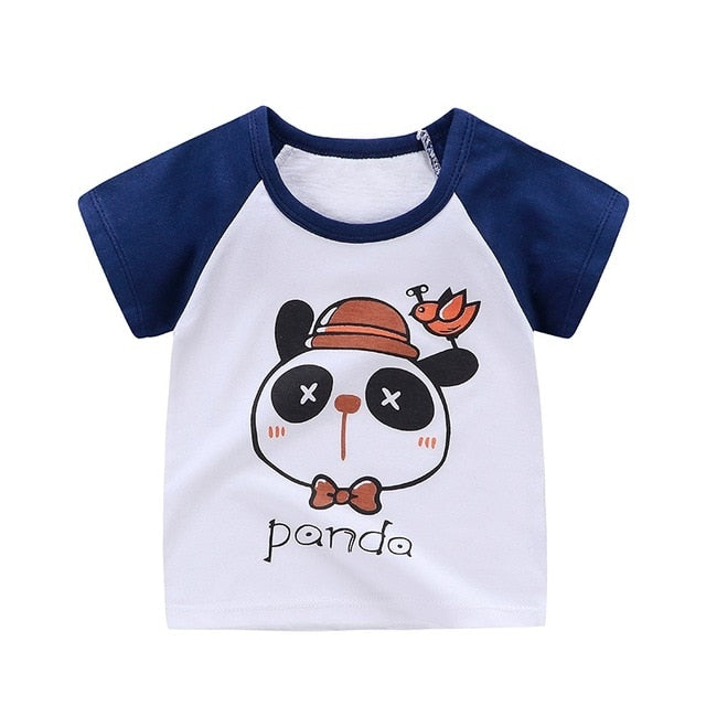 Sleepy Panda Soft Casual Cotton T-Shirt - Tops - baby-petite