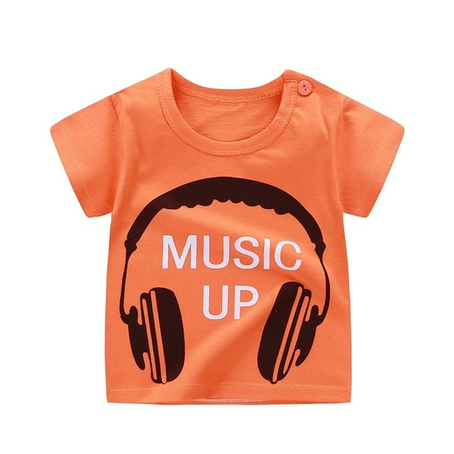 Music Up Casual Cotton T-Shirt - Tops - baby-petite