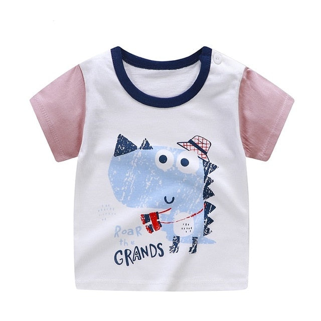 Roar The Grands Casual Cotton T-Shirt - Tops - baby-petite