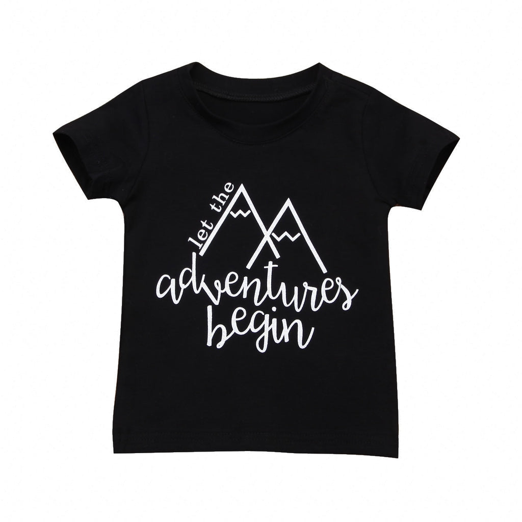 Adventure Begin Casual Cotton T-Shirt
