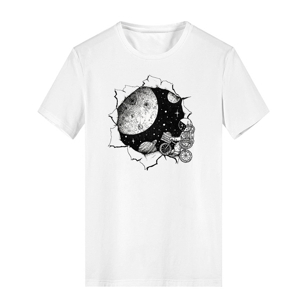 Bring Me To Space Casual Basic Cotton T-Shirt