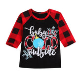 Baby It's Cold Outside Plaid Long Sleeve T-Shirt